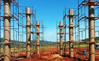Portfólio de obras de construção civil usando formas de papelão